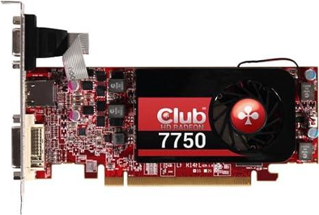 CLUB3D CGAX-7752L - Tarjeta gráfica (Radeon HD 7750, 4096 x 3112 Pixeles, AMD, 1 GB, GDDR5-SDRAM, 128 bit)
