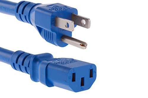 (CablesAndKits Heavy Duty AC Power Cord, 15A/125V, 14 AWG, 5-15P to C13, (NEMA 5-15P to IEC-60320-C13) 2 ft)