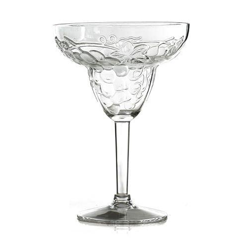 Prodyne Jubilee Acrylic Embossed Grape 12 Ounce Margarita Glass