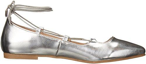 Endless Summer Ghillie Flat der chinesischen Wäscherei-Frauen Silber Metallic