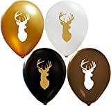 Deer Balloons - 1|Colorful Latex Balloons (20-Count) Happy Birthday Party or Event Use | Fill with Air or Helium | Kid-Friendly