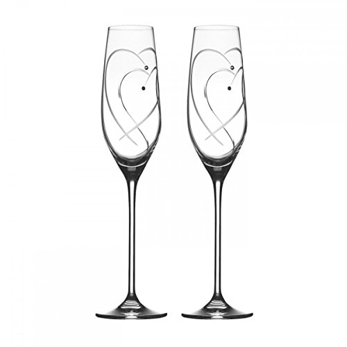Royal Doulton Promises Two Hearts Entwined Flute Pair
