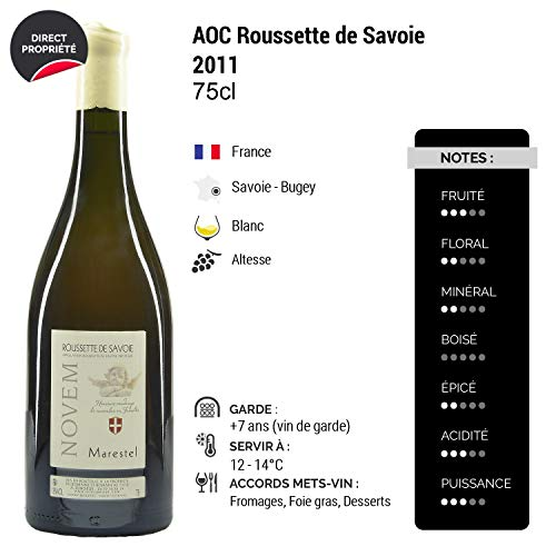 Roussette-de-Savoie-cru-MarestelNovem-Blanc-2011-Domaine-Saint-Romain-Vin-AOC-Blanc-de-Savoie-Bugey-Cpage-Altesse-Lot-de-3x75cl