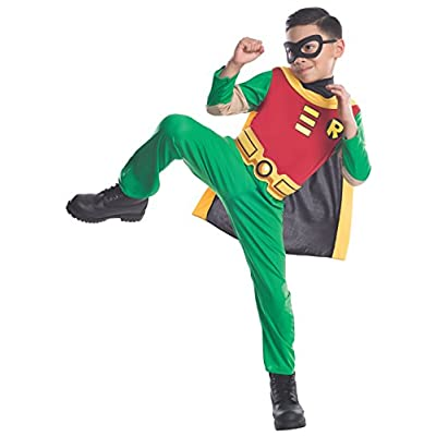 Teen Titans Child's Robin Costume, Medium (8-10 years): Toys & Games