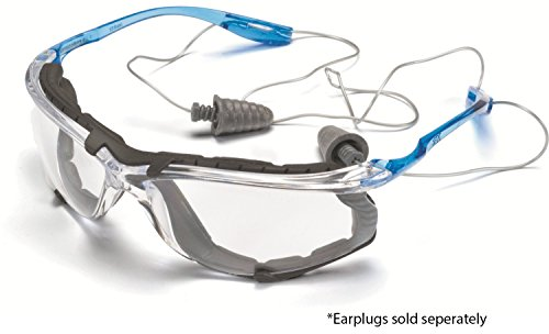 3M Safety Glasses, Virtua CCS, ANSI Z87, Anti-Fog, Clear Lens, Blue Frame, Corded Ear Plug Control System, Removable… 2