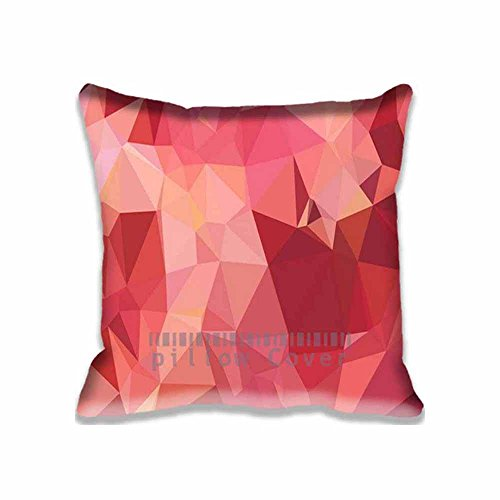 Grape Luster Satin (Home Square Cotton Polyester Cushion Covers Triangle Of Love Red Patterns Decorative Pillow Cases with Hidden Zippered Custom Throw Pillow Cover for Sofa Couch Bed 16X16inch)