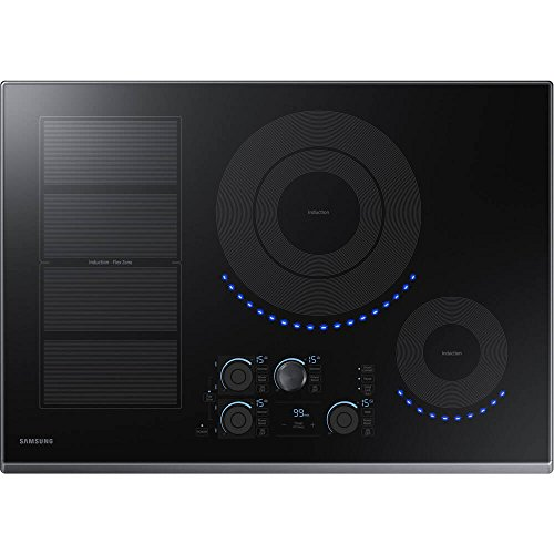 Samsung 30 Black Stainless Steel Induction Cooktop