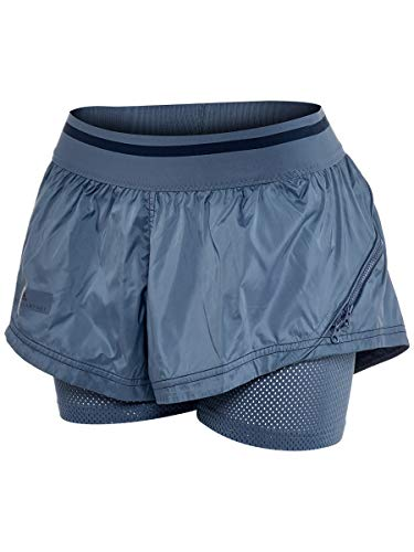 adidas Women's Stella McCartney Barricade Tennis Short Tech Ink (Adidas By Stella Mccartney Mini Track Shorts)