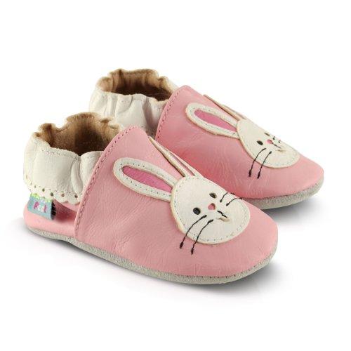 Snuggle Feet Babyschuhe Leder weich - Kaninchen | 6 - 12 Monate