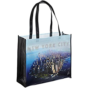 242ef271509f Amazon.com  NYC Photo Reusable Shopping Tote Bag - New York City ...