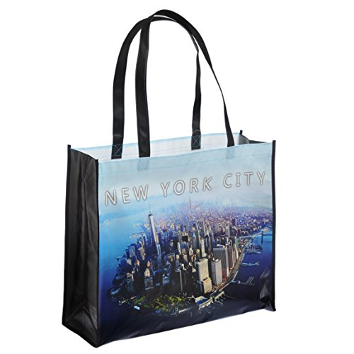 NYC Downtown Photo Reusable Shopping Tote Bag - New York Downtown (New York Canvas Bag compare prices)