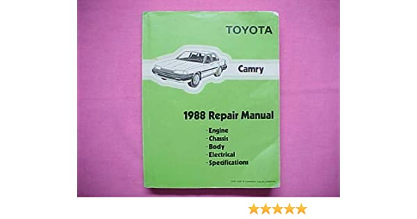 Toyota/lexus lover: 1988 toyota camry lx owners manual (cont. ).