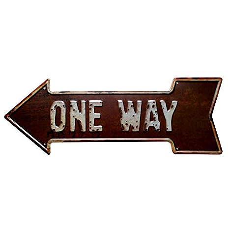 Cartel de dirección en forma de flecha para colgar en la ...