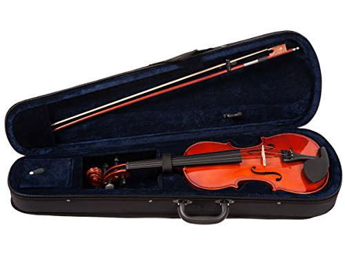 ADM VLP13-34 3/4 Size Entry Level Solid Wood Violin Outfit by ADM