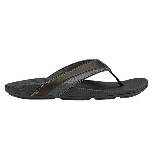 Olukai Halu a del hombre sandalias Negro/Negro