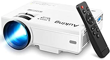 Mini Projector 2020 Upgraded Portable Video-Projector,55000 Hours Multimedia Home Theater Movie Projector,Compatible with...