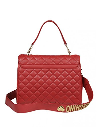 Love Moschino - Bolso de asas para mujer rojo rojo