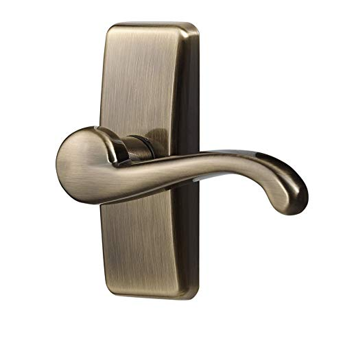 Ideal Security Inc. SKGLWAB GL Lever Set for Storm and Screen Doors A A Touch of Class, Easy to Install, Antique Brass
