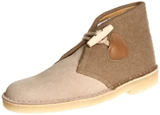 CLARKS Men's Desert Chukka Boot, Gloverall Fabric/Beige Suede, 11.5 M US (B00AYCLYWW) | Amazon price tracker / tracking, Amazon price history charts, Amazon price watches, Amazon price drop alerts