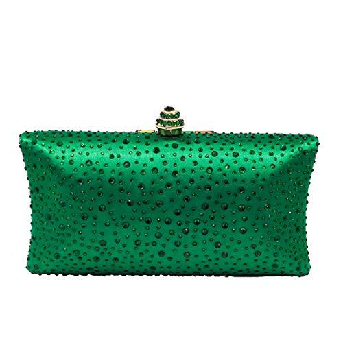 Di Sera Donna Occasioni Cristallo Da color Speciali Borse Green Pochette Omasuwi Black qw7SZ6I