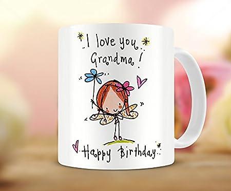 hirosâ ® Grandma Regalo Taza, I Love You Grandma. Feliz ...
