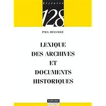 Archives et documents hist.