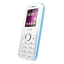 BLU Zoey II Quadband Unlocked Dual Sim Phone with Camera Bluetooth and Social Networks-Retail Packaging-White Blue (Discontinued by Manufacturer)