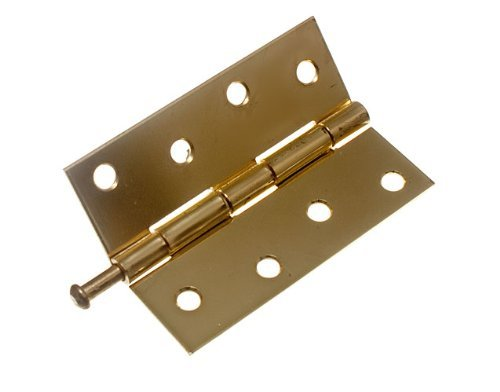 6 Of Loose Pin Butt Hinge Door Gate Brass Plated Steel 100Mm + Screws by DIRECT HARDWARE