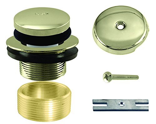 Westbrass Tip Toe Universal Tub Trim with One-Hole Faceplate, Polished Brass, D931K-01 ()