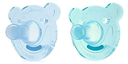 Philips AVENT Soothie Bear Shape Pacifier, Green/Blue, 0-3 ...