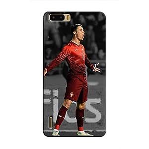 Cover It Up - Ronaldo Red Monochrome Honor 6 Plus Hard Case