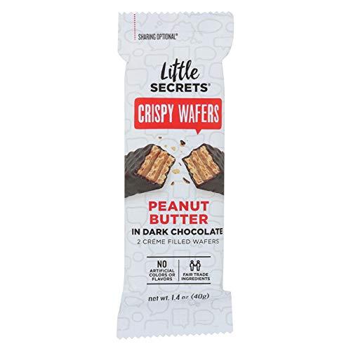 LITTLE SECRETS Peanut Butter with Dark Chocolate Crispy Wafers, 1.4 OZ