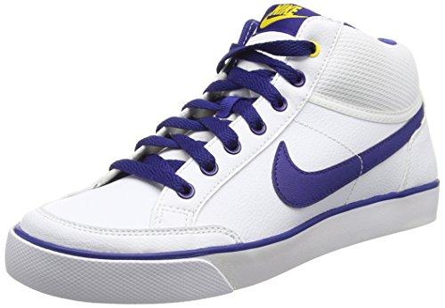 buy online 75ab8 2fcac Nike Capri 3 Mid LTR (GS), Zapatillas de Tenis Para Niños Blanco