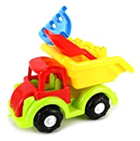 Fun Classic Dump Truck Children's Kid's Toy Beach/Sandbox Truck Playset w/ Toy Truck, Sand Mold, Hand Tools (Colors May Vary) from Sand Toys