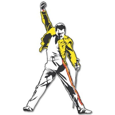 Freddie Mercury Queen Vynil Car Sticker Decal Select Size