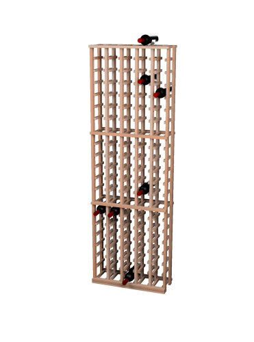 (Wine Cellar Innovations Rustic Pine Wine Rack for 105 Wine Bottles, 5 Column, Unstained)
