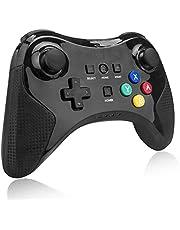 Wireless Wii U Pro Controller für Wii U,TechKen Bluetooth Classic Wii U Controller Gamepad Gaming Joystick Wii U Games Zubehör Wii Spiele für Wii U