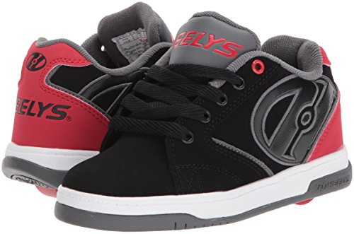 Heelys HE100032M Men's Propel 2.0 Sneakers, Black/Red/Grey – 9