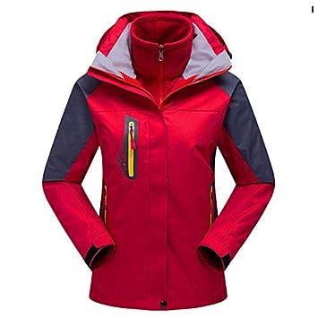 Trajes de Abrigo a Prueba de Viento Traje Chaqueta de Dos Piezas Exterior cálido, Overoles Rojos (Modelos Femeninos), XXL: Amazon.es: Deportes y aire libre