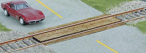 Scale Wood Grade Crossing - WOOD GRADE CROSSING -- LASER-CUT WOOD KIT - SINGLE