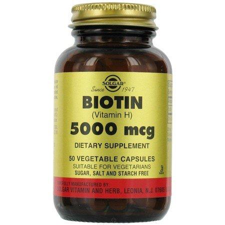 Solgar. Biotin 5000mcg 50 Vcaps (6-pack)