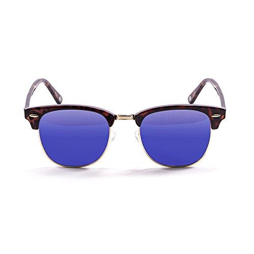 a2ab220056fd3 Ocean Sunglasses MrBratt lunettes de soleil polarisées Monture Marron  Verres Multicolore Revo Blue 700012