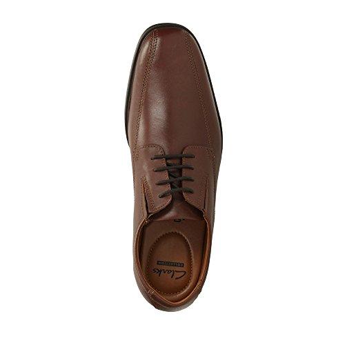Walk ClarksTilden Scarpe Uomo Stringate Brown Leather 26110311 gddrv6HqW
