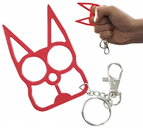 Generic Metal Cat Keychain Keyrings Self Defense Emergency Survival Tool fits perfectly in the palm of your hand