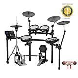 Roland TD-25KV V-Drums 10-Piece Electronic Drum Kit with Drum Module includes Free Wireless Earbuds - Stereo Bluetooth In-ear and 1 Year Everything Music Extended Warranty