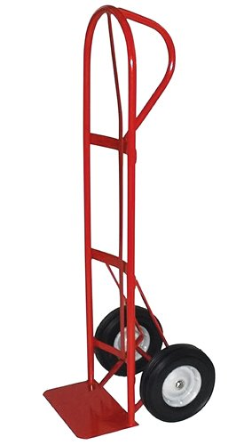 Milwaukee Hand Trucks 40118 P-Handle Hand Truck with 10-Inch Puncture Proof Tires and Steel Hub