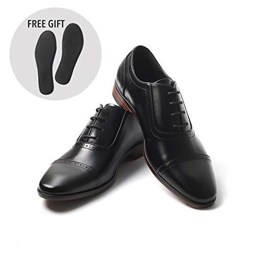 Mens Oxford Wingtip Lace Dress Shoes (10, Black Patent)