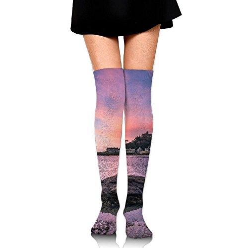 Sea Rock Near The Island Cotton Compression Socks For Women. Graduated Stockings For Nurses, Maternity, Travel, Flight, Pregnancy, Varicose Veins,Running & Fitness, Calf Support.