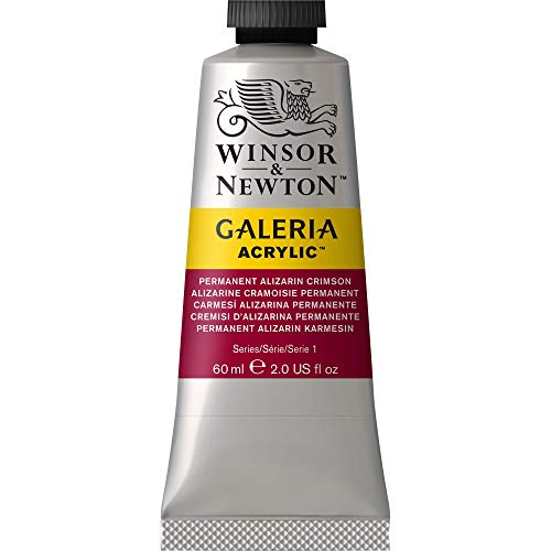 Winsor & Newton Galeria Acrylic Paint, 60ml Tube, Permanent Alizarin Crimson