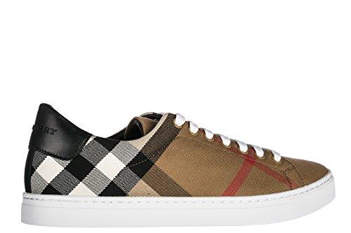 Burberry Herenschoenen Mannen Nylon Sneakers Schoenen Bruin